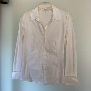Calvin Klein White Long Sleeve Button Up Small
